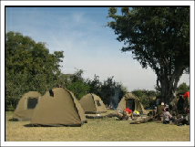 2 man dome tents used on budget tours