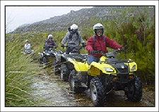 Clients riding quads on one of our Lesotho tours